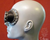 The Wiley - silver and matte black latex monocle prosthetic monogoggle - new color