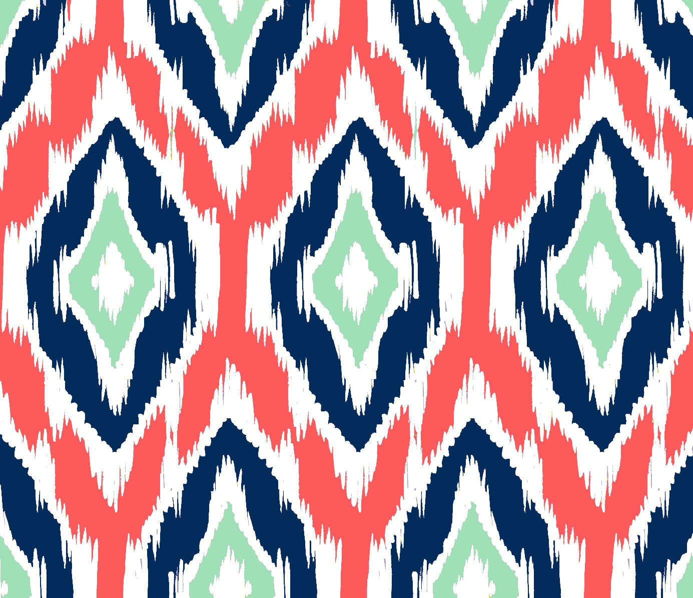 Ikat pattern drapery fabric discount ikat pattern - Ikat Fabric By The Yard Coral Navy And Mint
