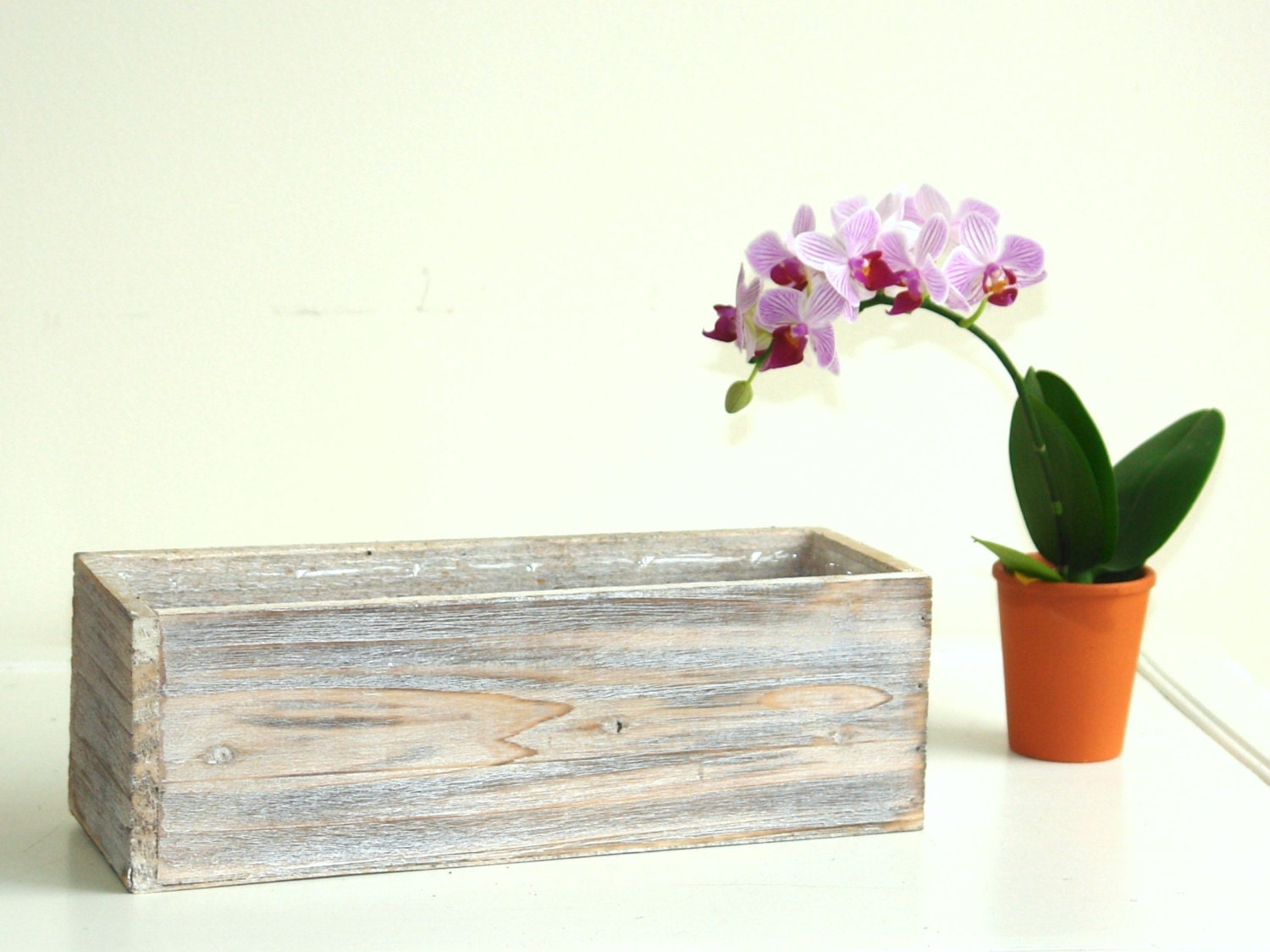 Wood boxes woodland containers planters flower box by - Wooden containers for flowers ...