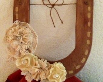 HORSESHOE..Ring Bearer...Alternative...Country Chic..Rustic...Barn Wedding...Country Wedding