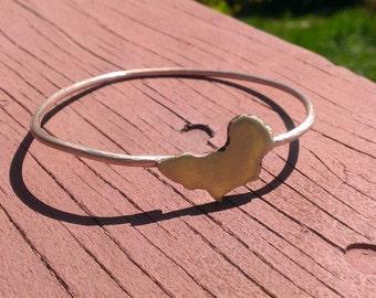 Handmade Custom Recycled Metal Africa Bangle Bracelet