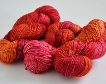 Hand dyed yarn pick your base - Bloom - sw merino cashmere nylon fingering dk worsted
