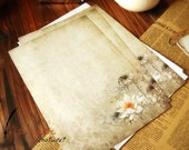 8 Sheets Vintage Style Lotus Writing Paper - Stationery - Letter Paper - Paper - Filofax