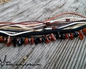 Boho Wrap Bracelet / All-Natural Textured Look / Perfect Fit