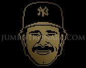 Don Mattingly Jumbotron Art - Limited Edition Gold Foil Print, 12 x12