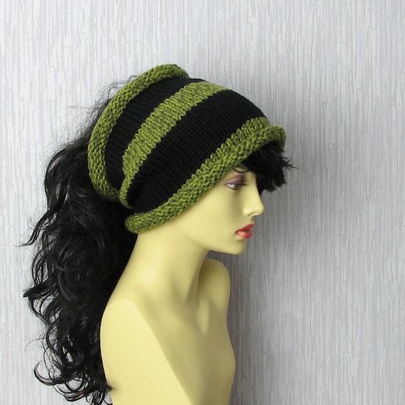 Plain dreadlock tube hat Dread Band Mens knit headband wide