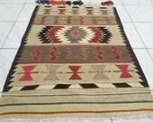 VINTAGE Handwoven Turkish Kilim Rug ,30.7x43.3 inch, Antique Kilim Rugs,Decorative Kilim Carpet,Natural Wool Floor  Carpets,FAST  SHIPPING.
