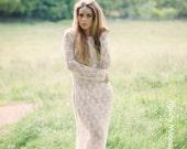 Journey - Bohemian Luxe Sheer Crochet Wedding Dress