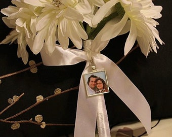 Custom PHOTO Wedding Charm - Memory PHOTO Charm - Personalized Wedding Bouquet Photo Charm