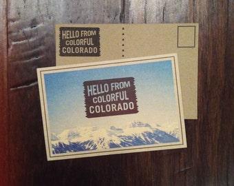 Hello from Colorful Colorado Postcard