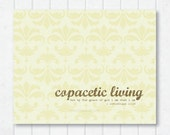 Copacetic Living Scripture Print with 1 Corinthians 15:10 and Damask