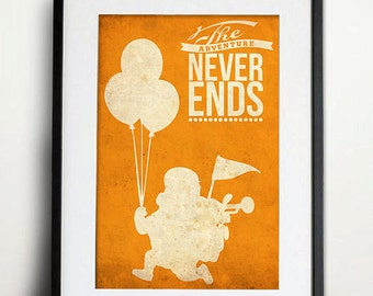 Vintage UP Movie Print