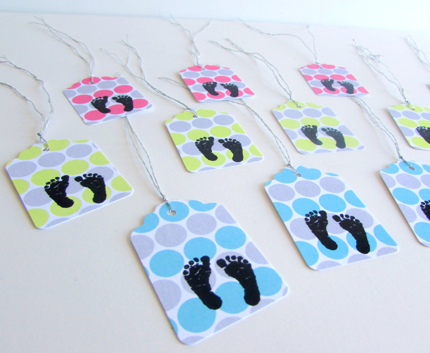 New Baby Boy Gift Tag : Baby shower favor tags feet gift gender reveal