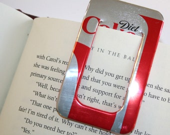 Diet Coke - BOOKMARK & PAPER CLIP Set - from Recycled Soda Pop Can