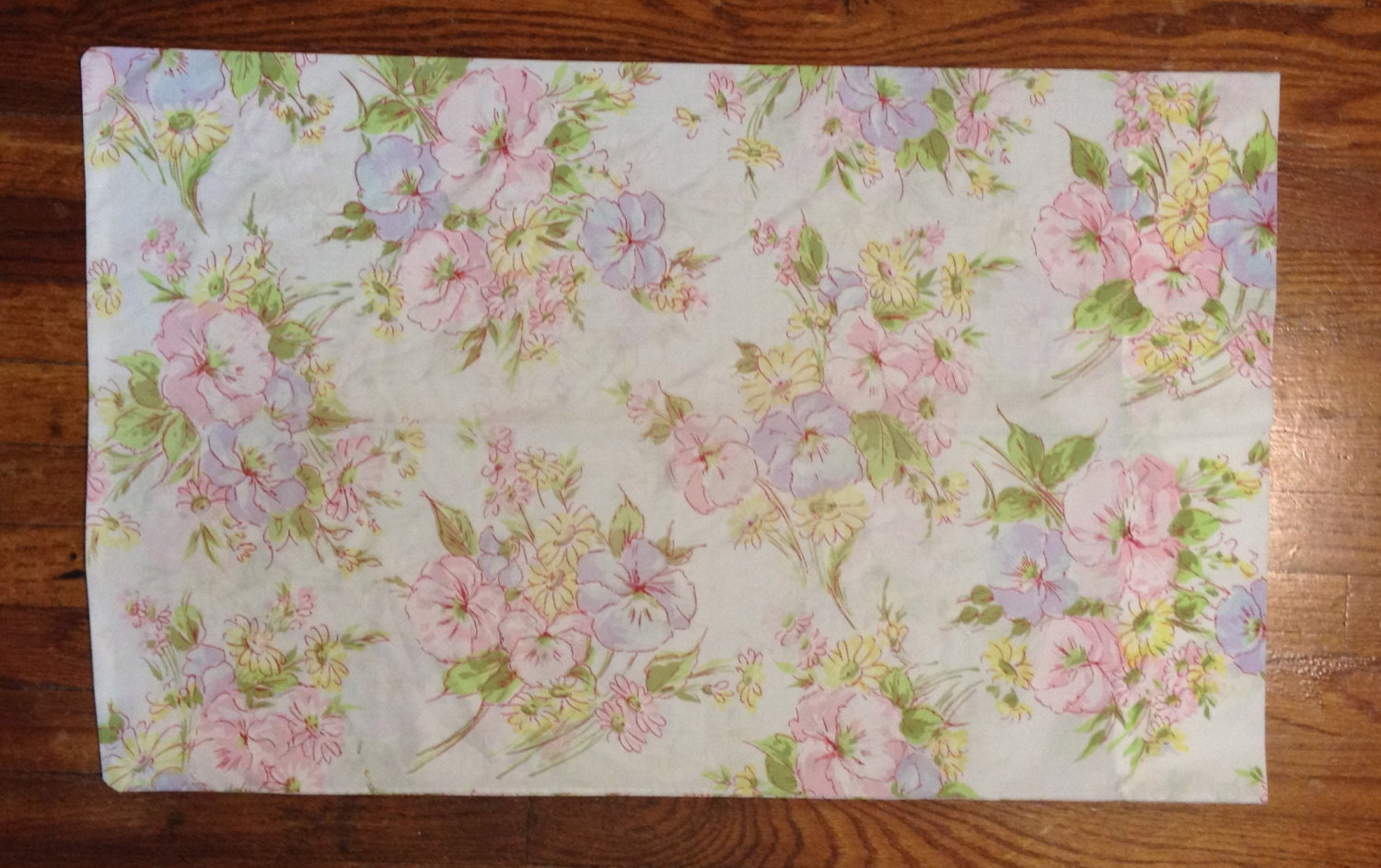 Flower pillow case pastel pretty Romantic home Shabby chic