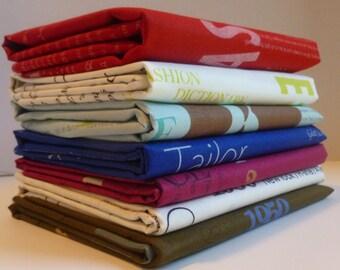 Fashion Show Color  by Suzuko Koseki for  Yuwa of Japan- Fat Quarter Bundle