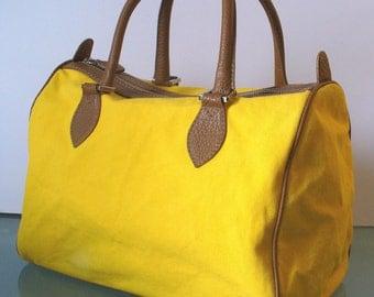 Made in Italy Barneys New York Canvas Speedy Boston Bag