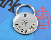 SMALL Dog or Cat Tag - Customized Pet Tag - Hand-Stamped Dog or Cat ID Tag