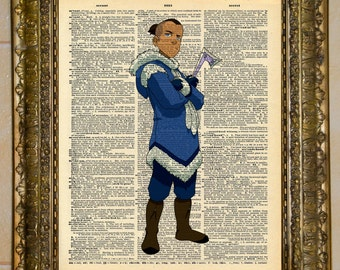 Avatar: The Last Airbender Sokka Dictionary Art