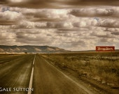 Route 66 Photo - 16 x 20 Matted Photo - Rt 66 - Burma Shave - Toned Photo - Southwest - Retro - Americana - Gift for Guys - Wall Decor