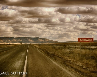 Route 66 Photo, Fine Art Photo, Rt 66, Burma Shave, Arizona, Southwest, Retro,Americana, Gift for Guys, Man cave, Home or Office Wall Art