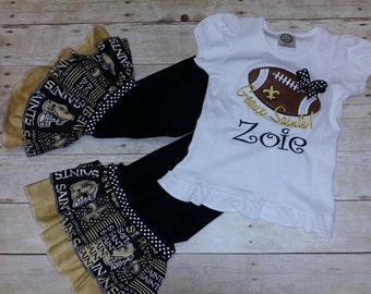 New Orleans Saints - Geaux Saints!  Baby, Toddler and Girls outfit