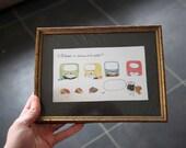 Extension du domaine de la mousse : original framed watercolor