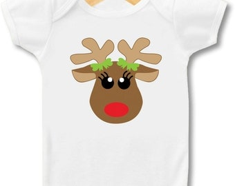 Girl Reindeer  - Bodysuit or T-shirt