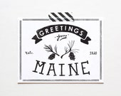 State of Maine Postcard