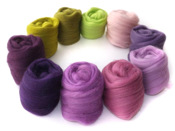 Merino Wool - Spinning - Needle Felting  - 100g - 3.5oz - UK - HEATHERY HILLS