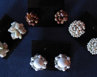 Vintage Lot of 4 / 1960's Clip Earrings offered