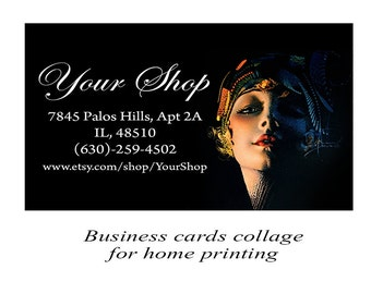 Digital business cards Printable cards Fashion business cards