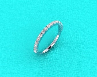 14K white gold 1.8mm shared prong band