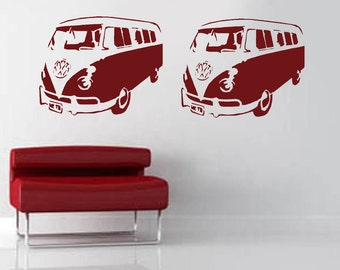VW Camper Van Stencil, Large wall stencil, decorative stencils for painting wall, Furniture stencilling, Reusable.