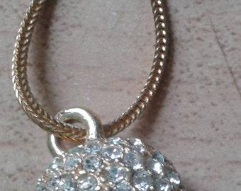 Vintage Costume Sparkling Diamante Ball Necklace
