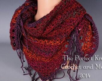 PDF Crochet Pattern - Vestured Scarf