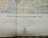 Collection of 21 Joint Operations Graphic Air Maps United Kingdom  U. S. Air Force 1970-71 Military Collectible