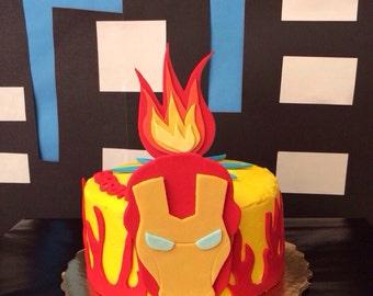 Iron Man inspired Fondant cake topper
