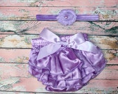 Satin Purple Bloomers & Headband