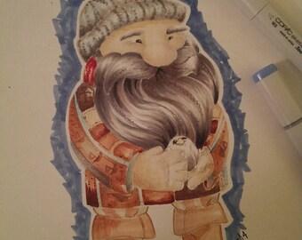 Blackbeard Original Marker Drawing