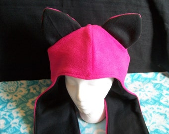 Cat Ears Hood with pocket Mitts