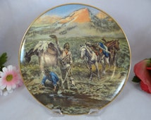 """Ridgewood Fine China Charles Russell """"Discovery of Last Chance Gulch - 1925"""" Western Series Collector Plate"""