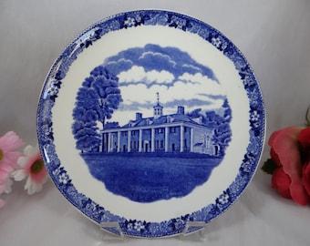 1940s Vintage Old English Staffordshire Adams Mount Vernon Plate