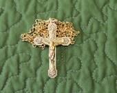 Gold Plated Crucifix from Kluisbergan Belgium