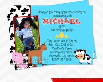 Farm Barnyard Invitation