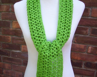 Crocheted Scarf  / Spring Green