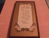 Vintage For My Mother Framed Poem