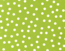 Robert Kaufman Fabric Anne Kelle Remix Lime Small Polka Dots - One Yard