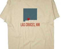 GreatCitees Unisex Las Cruces New Mexico NM HEART Hometown Souvenir Tee Shirt Mens Womens Ladies Youth Kids