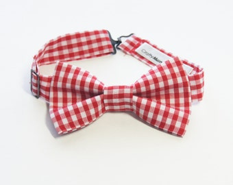 Bow Tie - Red Gingham Bowtie